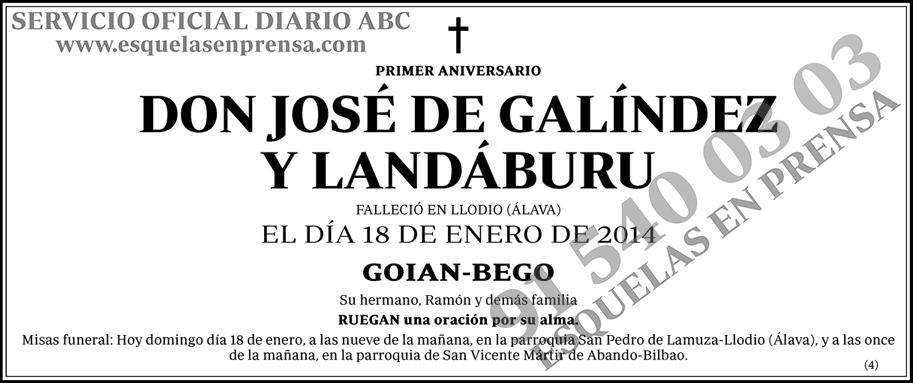 José de Galíndez y Landáburu